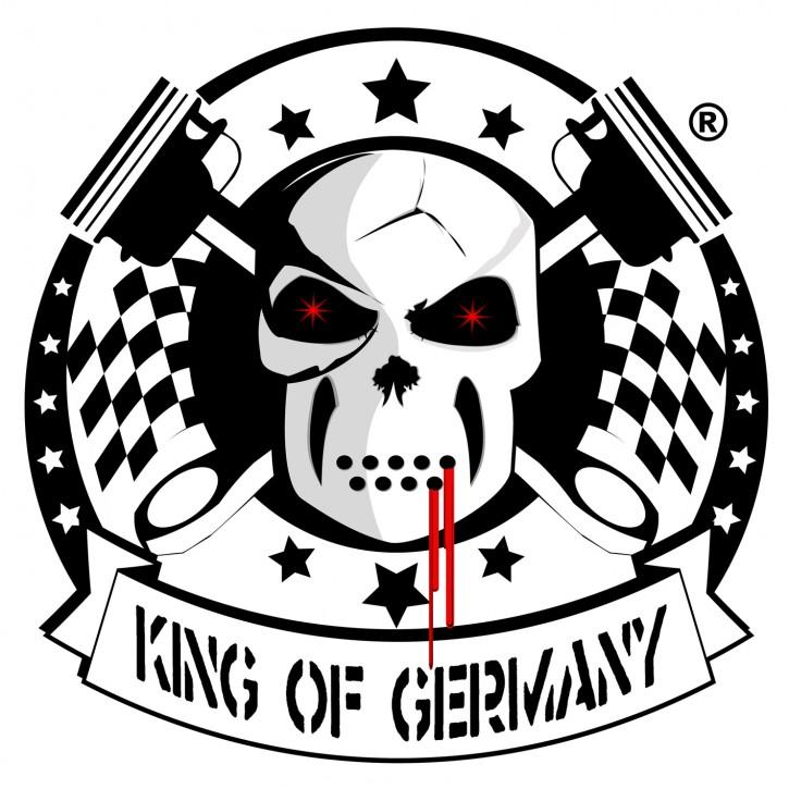 KING OF GERMANY Aufkleber, 11cm, rund
